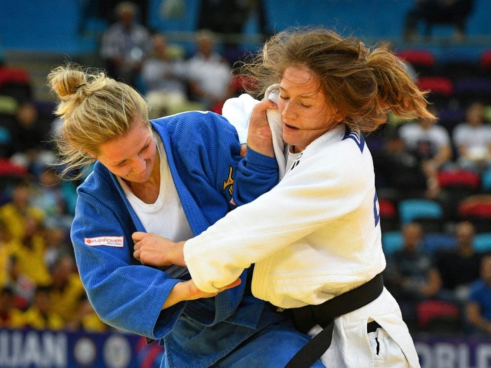 Martyna Trajdos (r.) gewinnt Bronze bei der Judo-EM
