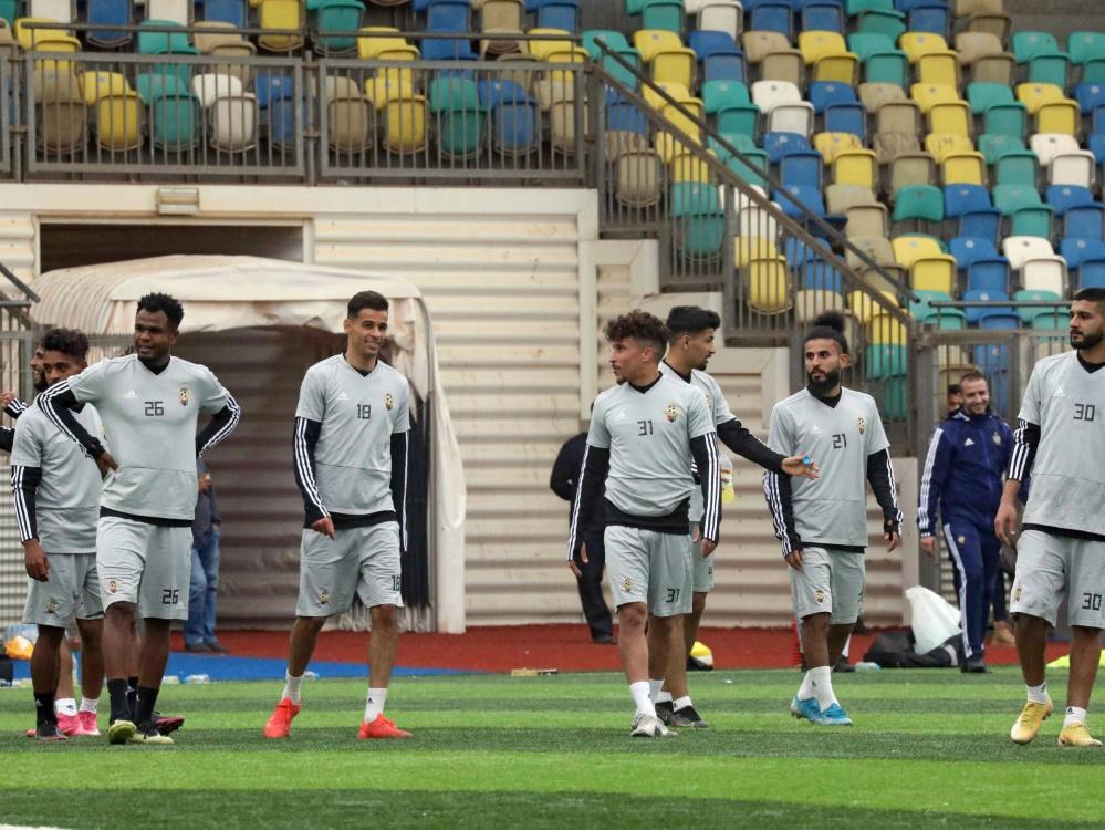 Libyens Nationalspieler beim Training