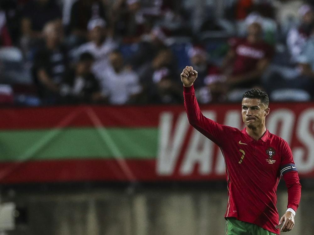 Erzielte sein 112. Länderspieltor: Cristiano Ronaldo