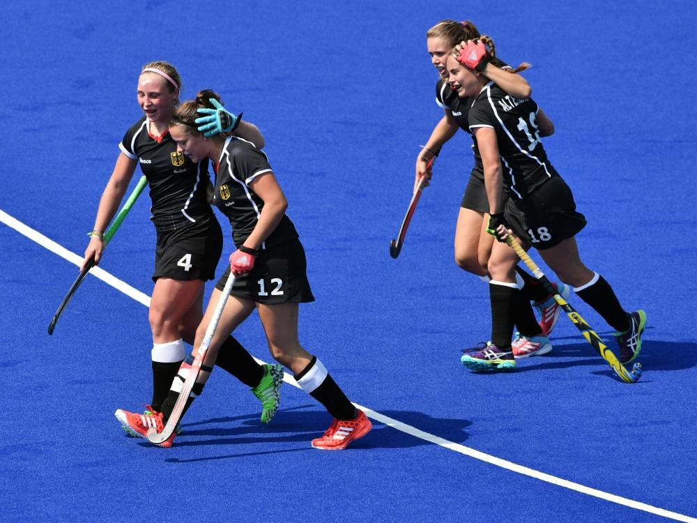 Die deutschen Hockey-Damen feiern den Viertelfinaleinzug