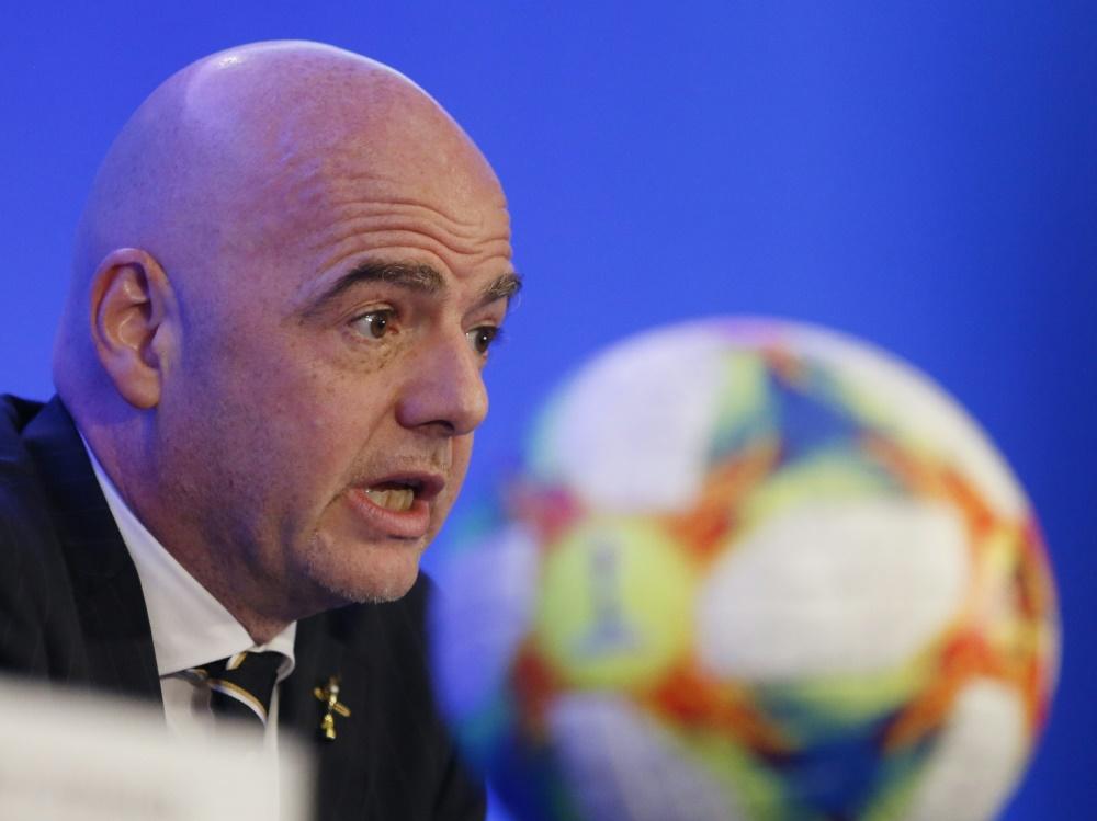 Muss wohl auf die Mega-WM 2022 verzichten: Gianni Infantino