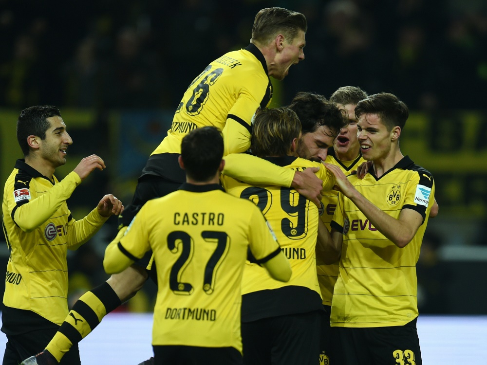 Nach frühen Rückstand drehten die Dortmunder gegen Frankfurt auf