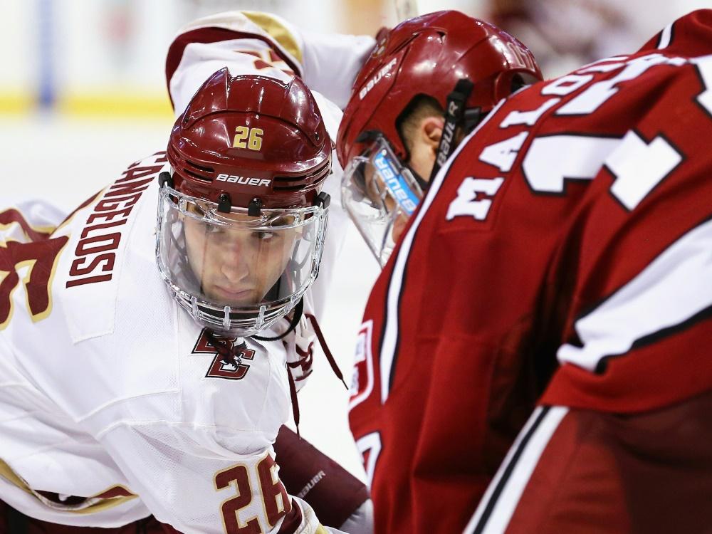 Austin Cangelosi (l.) wechselt zu den Nürnberg Ice Tigers