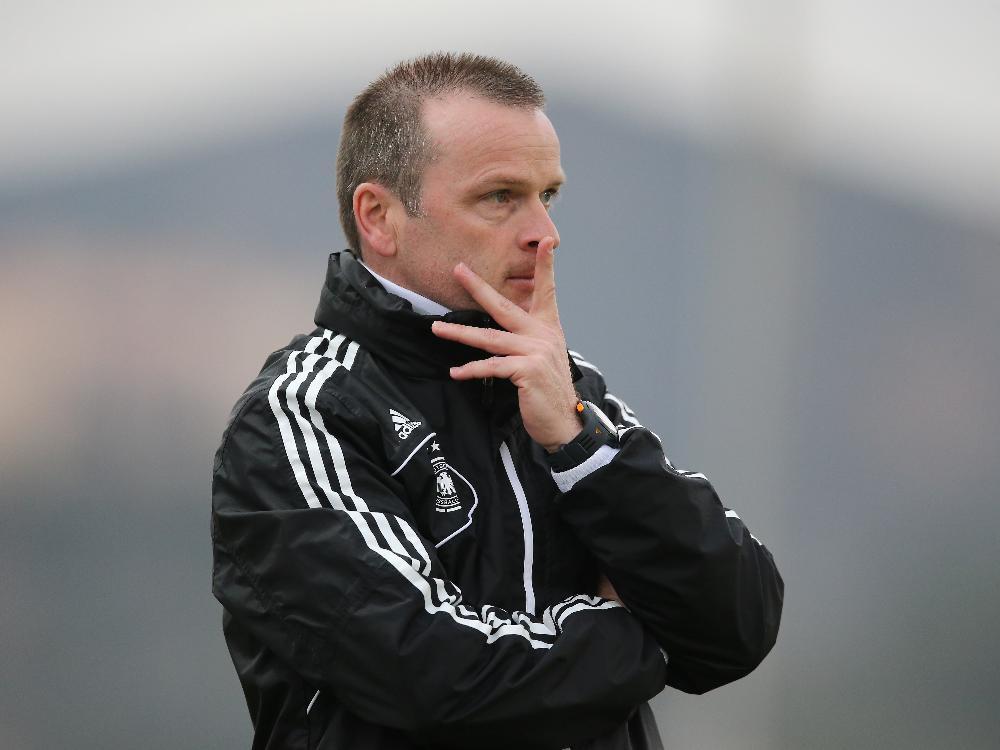 Trainer Stefan Böger ist mit der U16 des DFB auf Kurs