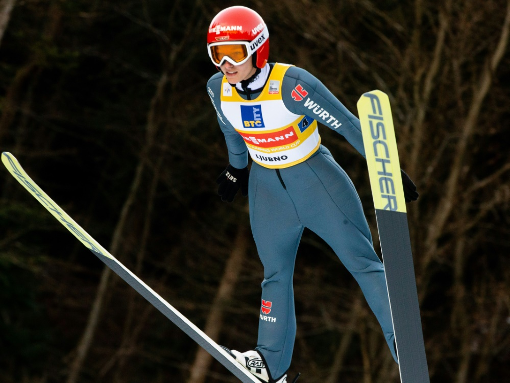 Katharina Althaus landete auf Platz zehn