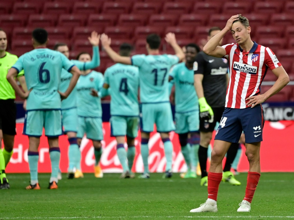 Atlético Madrid verliert mit 0:2 gegen UD Levante