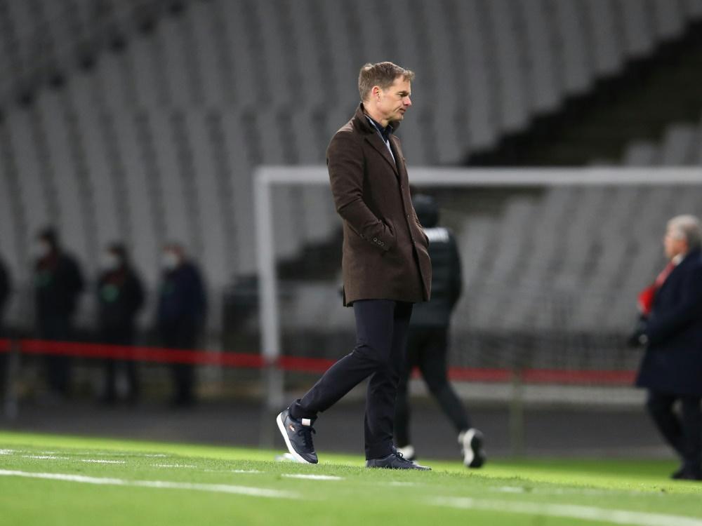 Frank de Boer blickt nach vorn