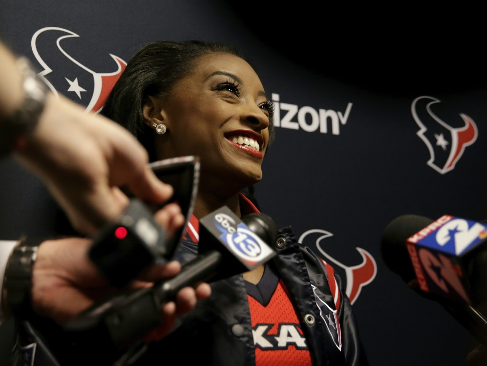 Cheerleaderin für die Houston Texans: Simone Biles