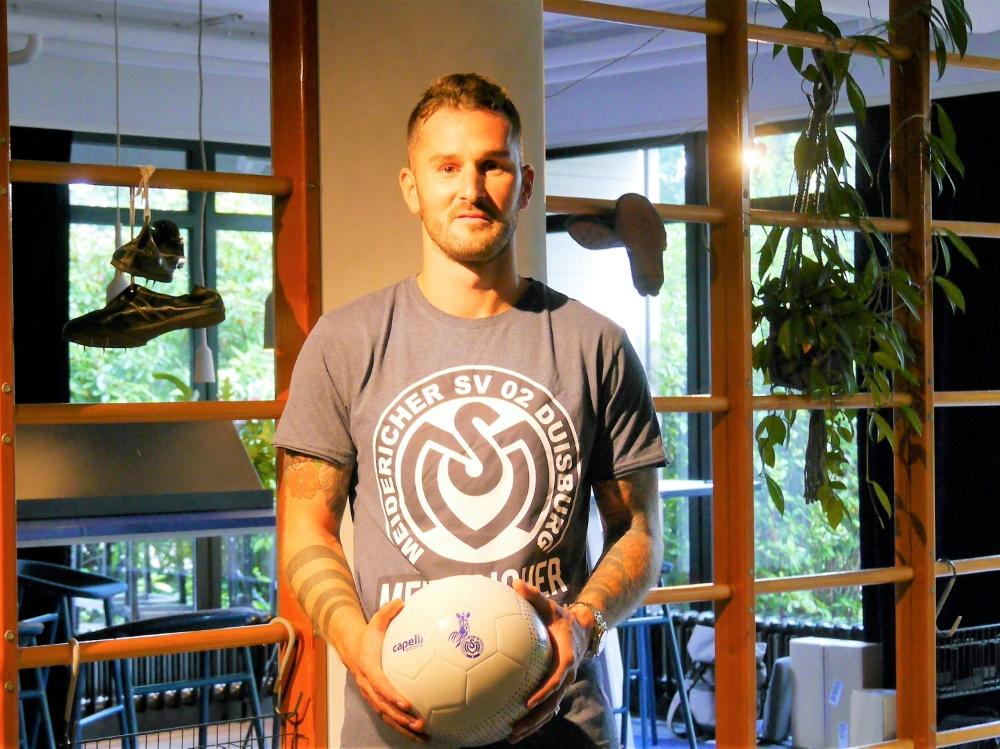 Ab jetzt im Trikot des MSV Duisburg: Dominik Schmidt