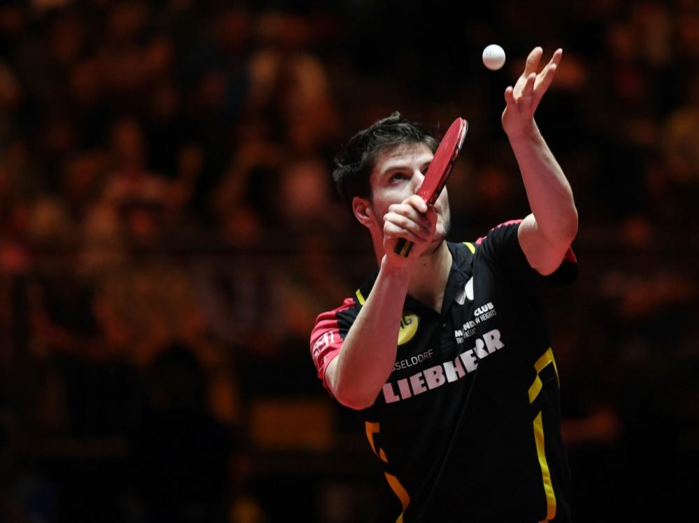 Tischtennis-Herren im EM-Halbfinale: Dimitrij Ovtcharov holte den ersten Punkt