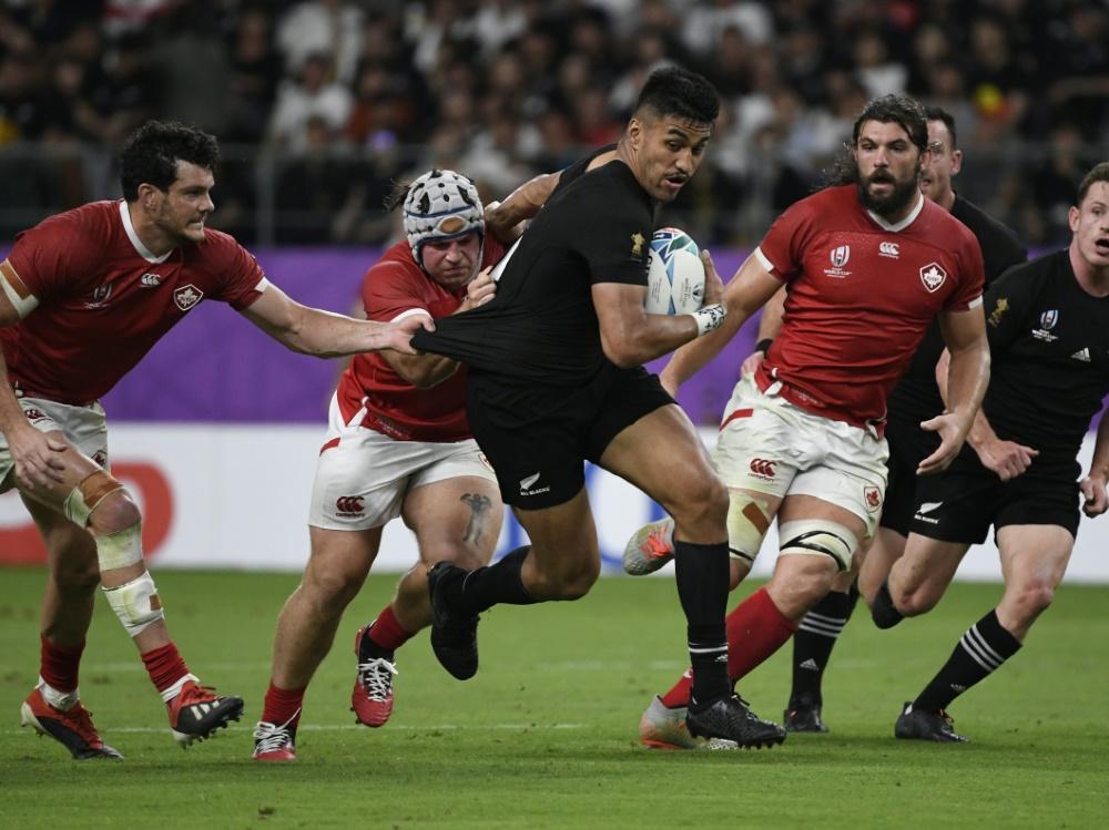 Neuseeland schlägt Kanada bei der Rugby-WM deutlich