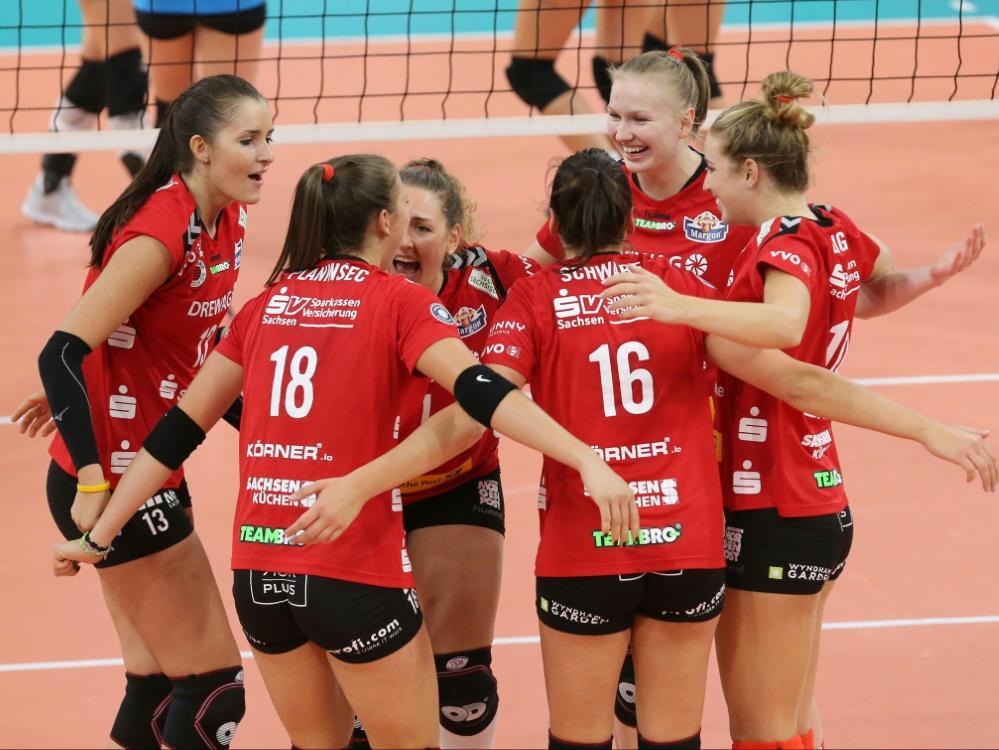 Nach Sieg: Dresden gegen Schweriner SC im Halbfinale