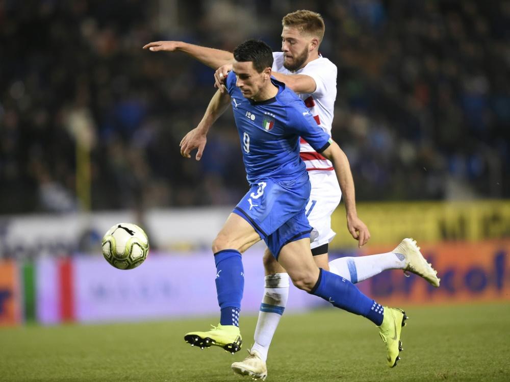 Italien musste lange auf den Siegtreffer warten