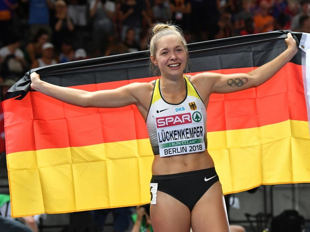 Gina Lückenkemper bereitet sich im Chemnitz vor