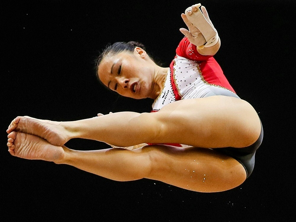 Platz fünf am Stufenbarren: Kim Bui