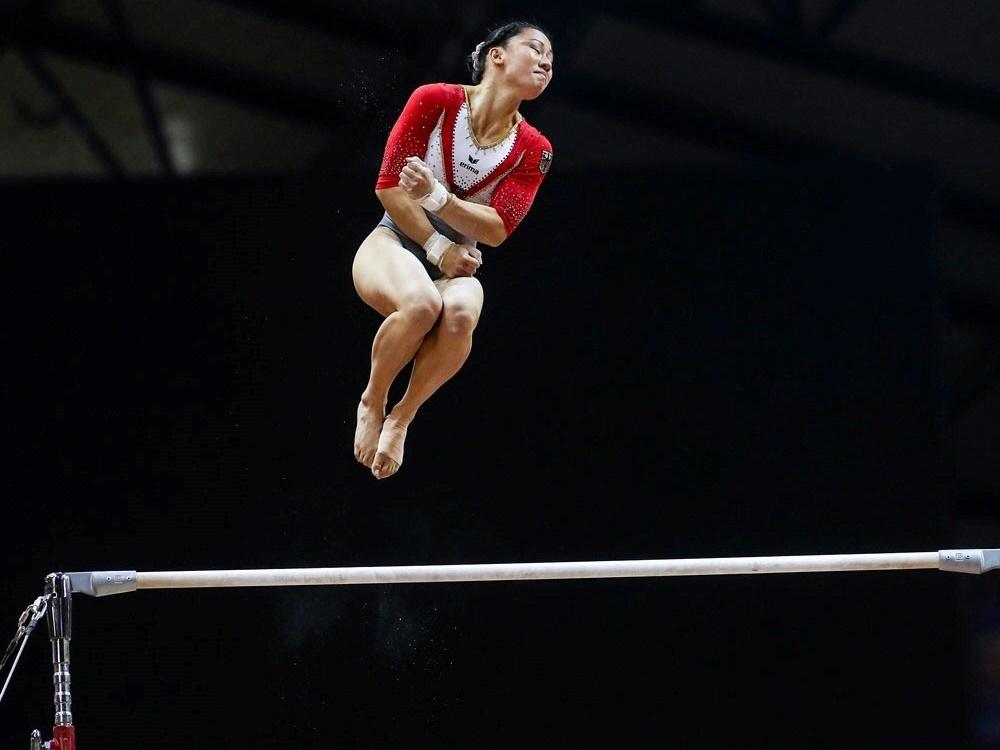 Kim Bui holt am Boden Silbermedaille für Deutschland