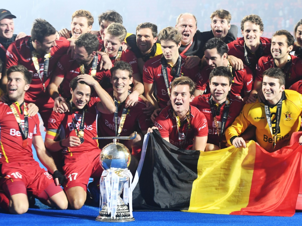 Belgien feierte in Indien den erstmaligen WM-Triumph