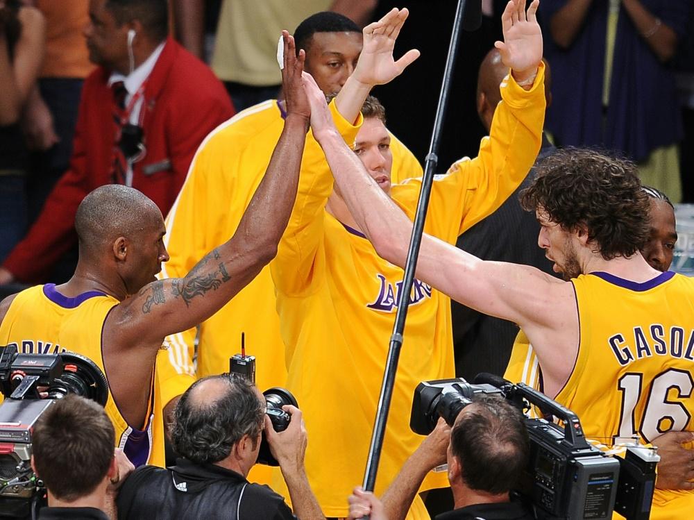 Ehemalige Teamkollegen: Pau Gasol (r.) und Kobe Bryant