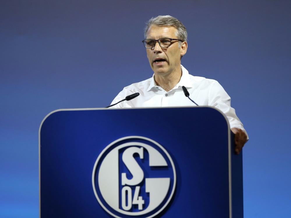 Peter Knäbel plant auf Schalke in alle Richtungen