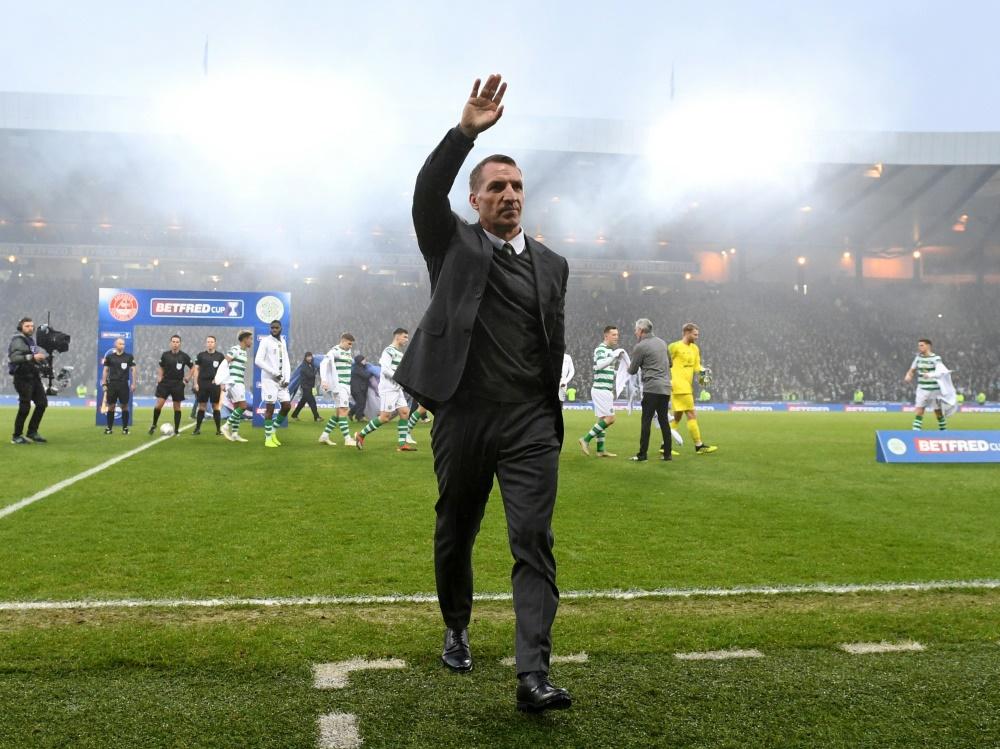 Trainer Brendan Rodgers gewinnt mit Celtic den Ligapokal
