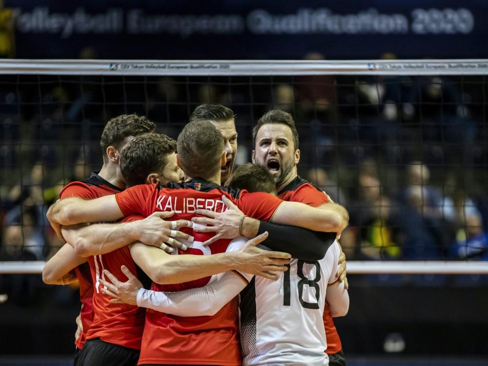 Die deutschen Volleyballer ziehen ins Halbfinale ein
