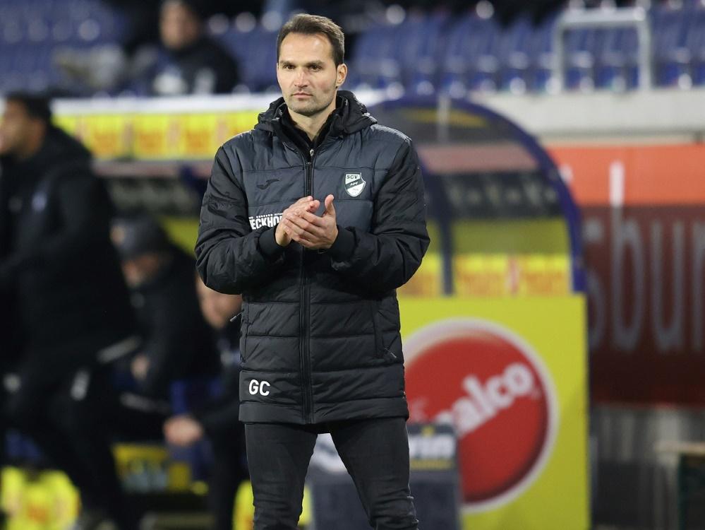 Für Trainer Capretti vom SC Verl reicht es nur zum 1:1