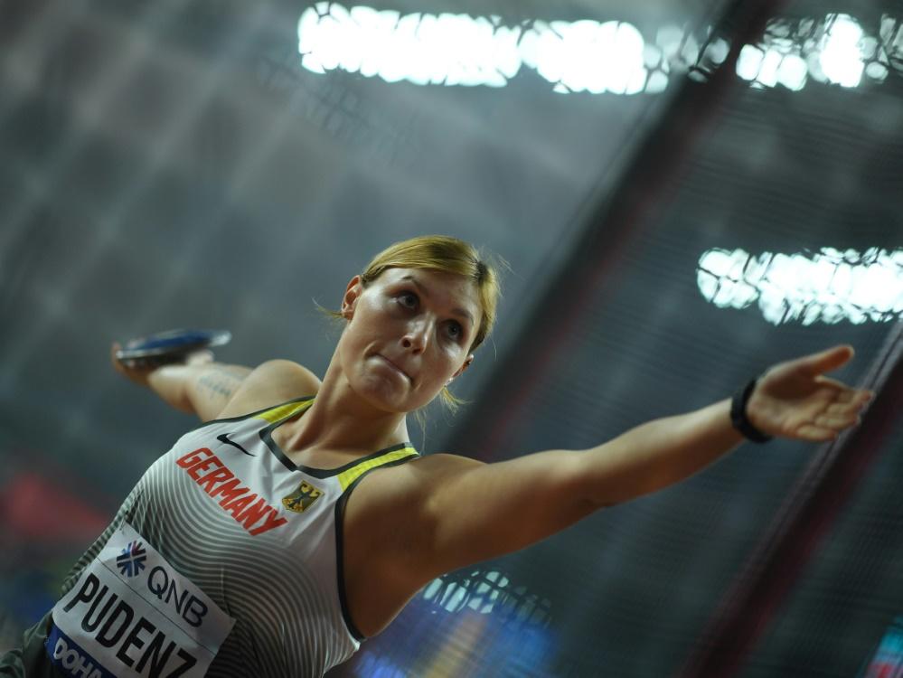 Kristin Pudenz erreichte mit 63,35 m das Finale