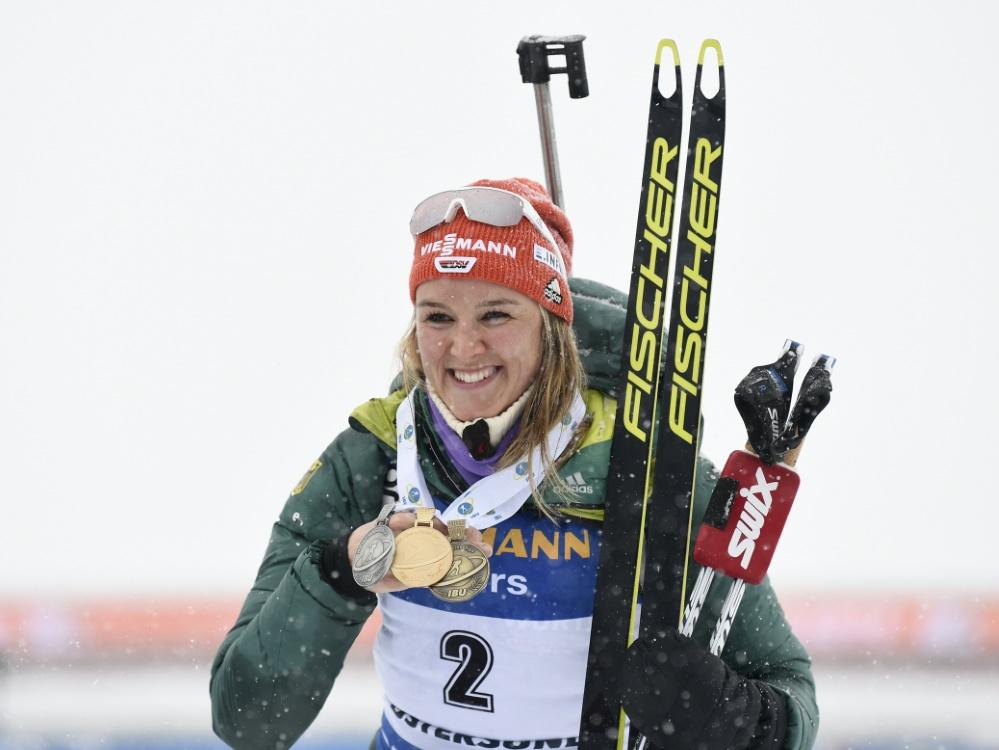 Denise Herrmann gewann letzten Winter Bronze in Östersund
