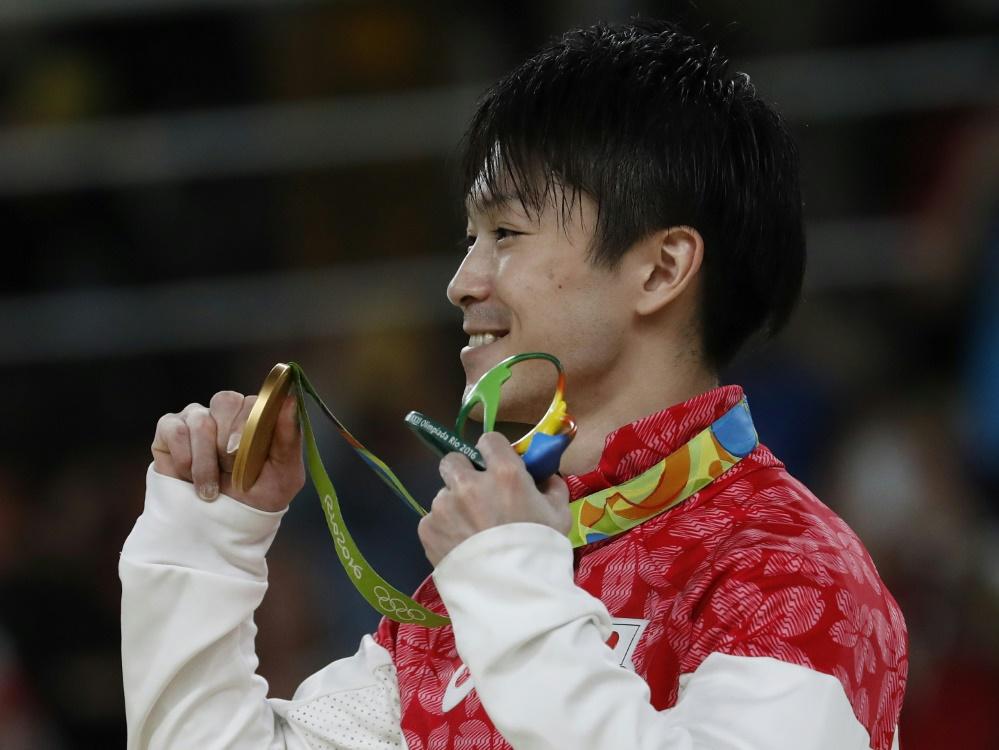 Uchimura gewann bei Olympia 2016 in Rio Gold
