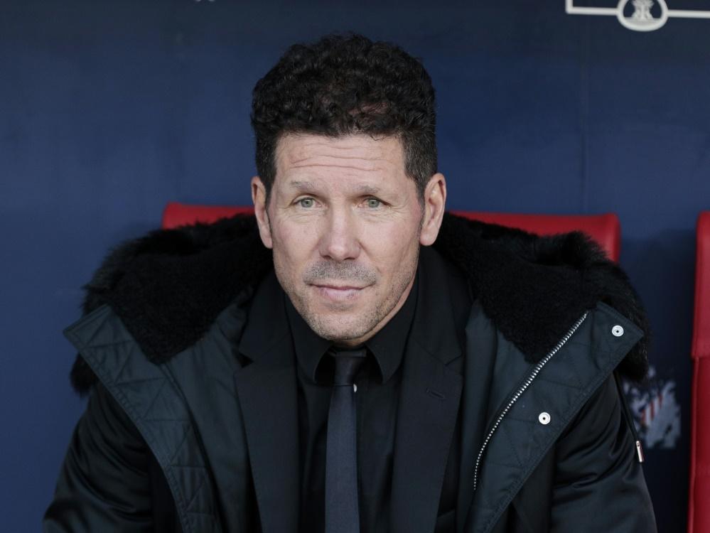 Diego Simeone ist seit 2011 Trainer bei Atlético Madrid