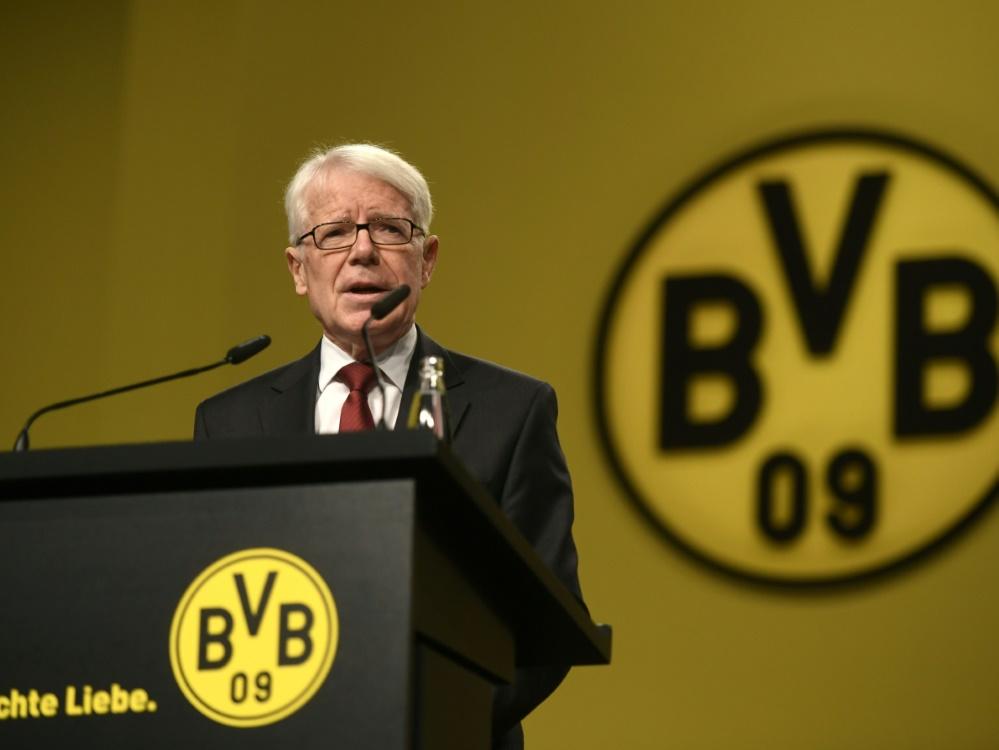 Borussia Dortmunds Präsident Reinhard Rauball