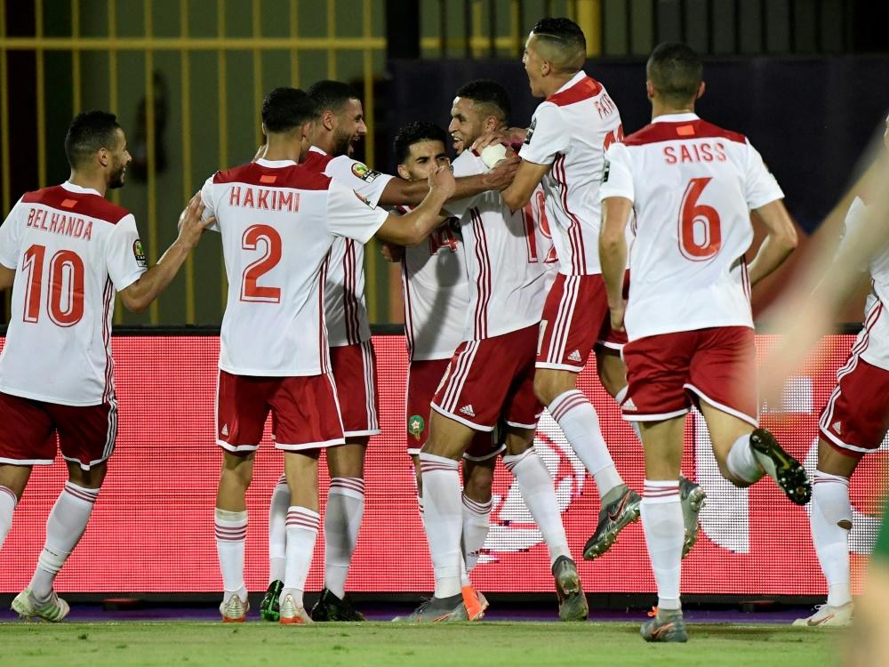 Marokko erzielte erst kurz vor Schluss den Siegtreffer