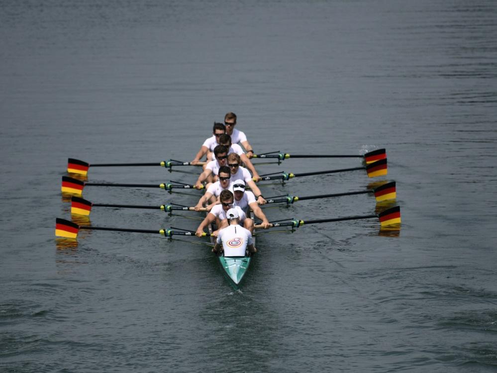 Der deutsche Achter erreichte beim Weltcup Rang zwei