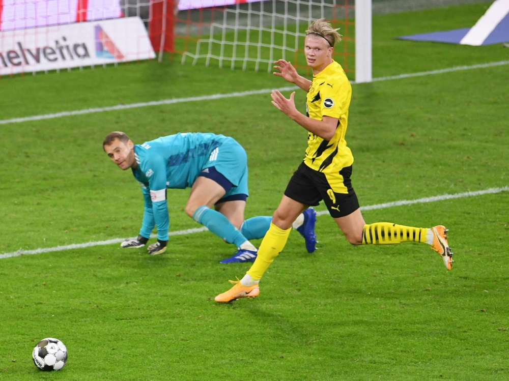Erling Håland biss sich an Manuel Neuer die Zähne aus