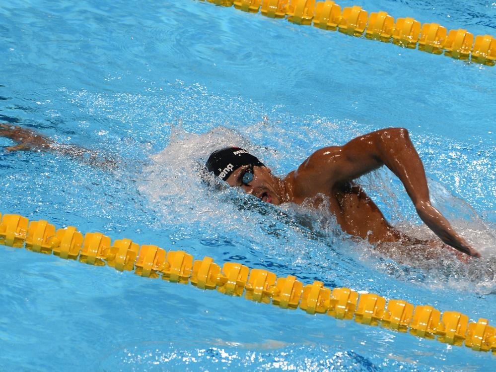 Oussama Mellouli schwimmt in Tokio