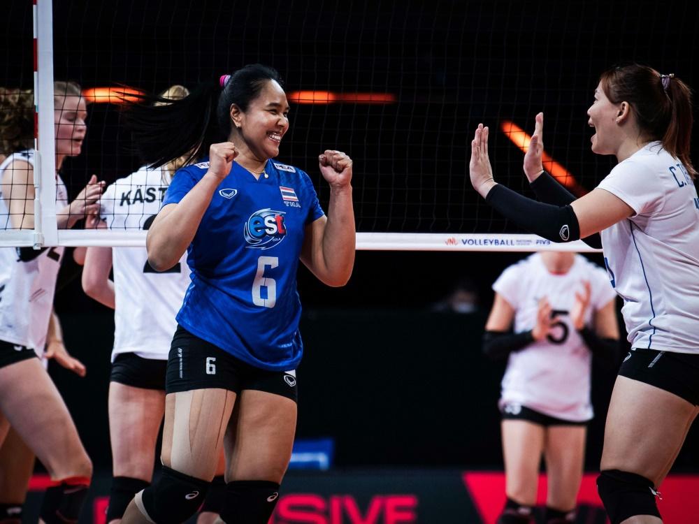 Die deutschen Volleyballerinnen unterliegen Thailand 1:3
