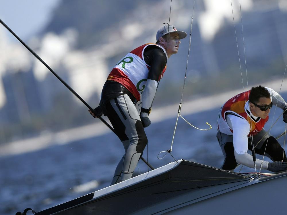 Erik Heil und Thomas Plößel segeln auf den fünften Rang