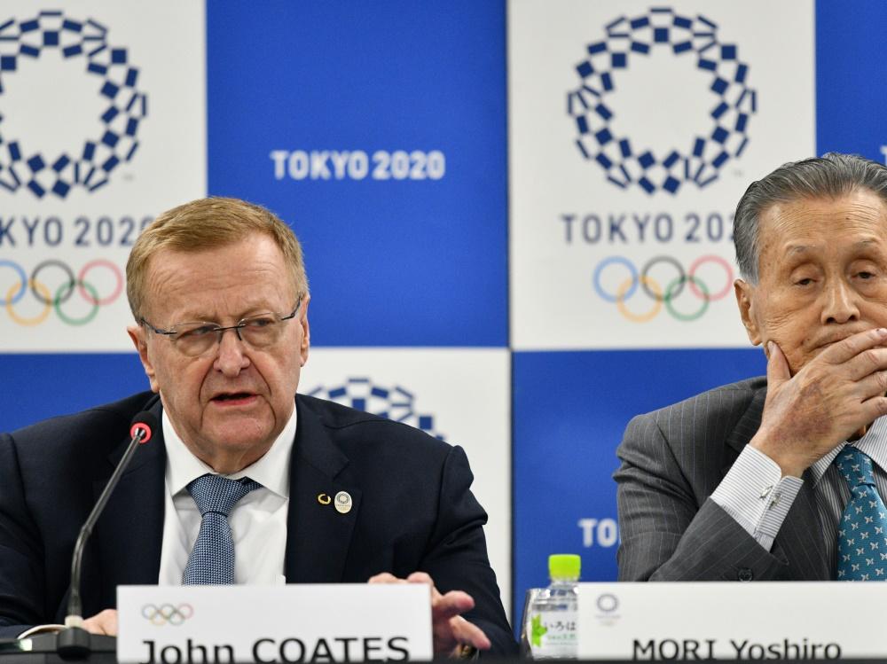 IOC-Vize Coates (l.) sieht Chancen für Japans Wirtschaft