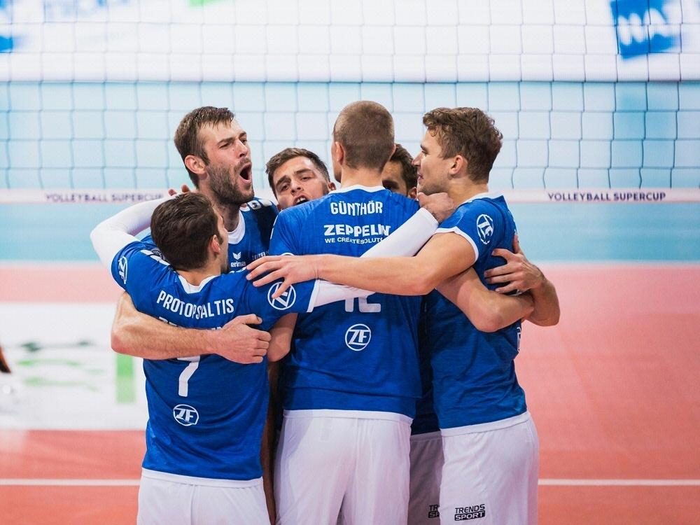 Im Pokal-Viertelfinale: Friedrichshafens Volleyballer
