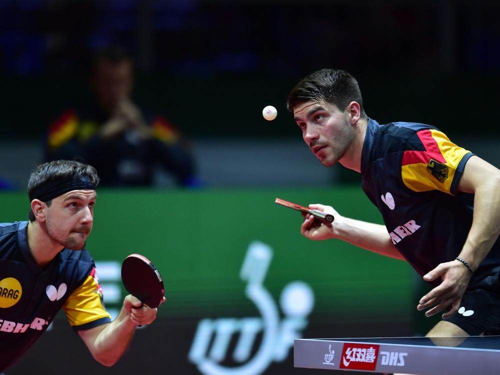 Geiles Doppel: Timo Boll und Patrick Franziska