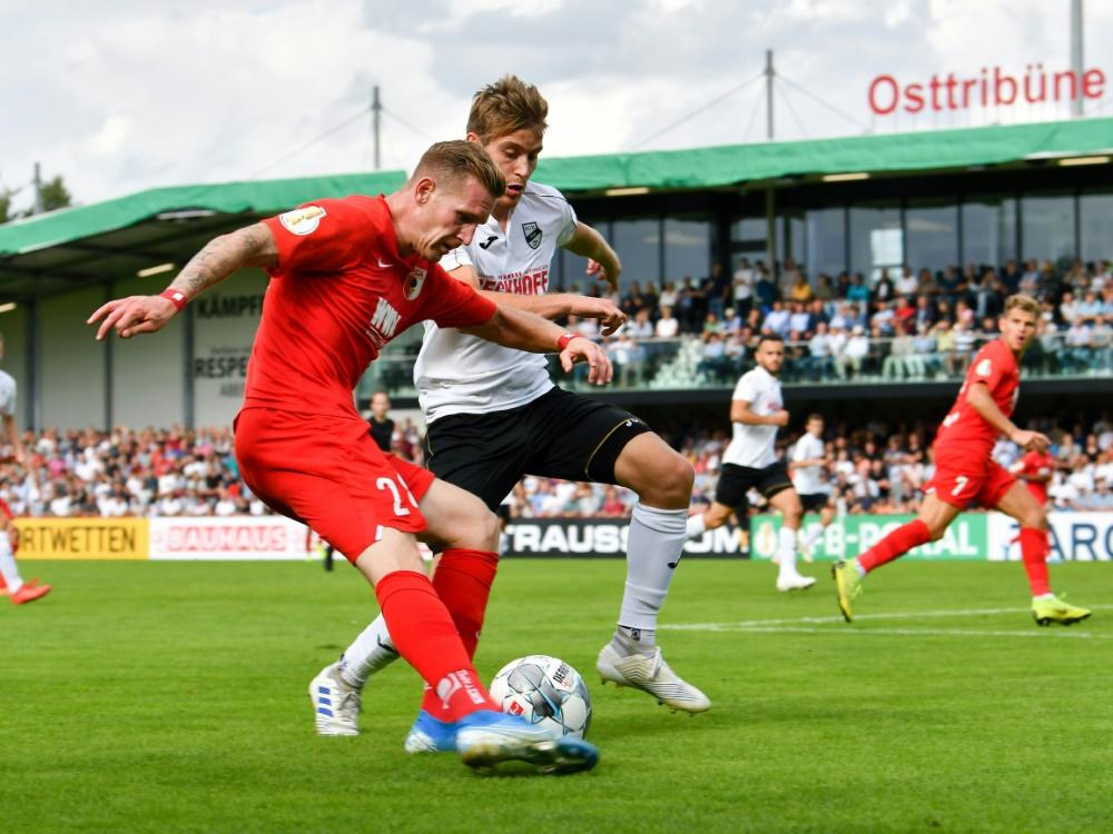 Der SC Verl besiegte Augsburg in der ersten Pokalrunde