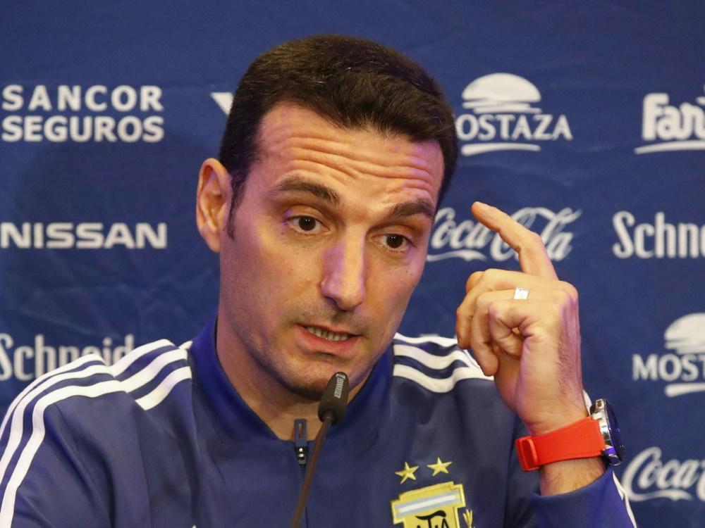 Skeptisch: Argentiniens Nationaltrainer Lionel Scaloni