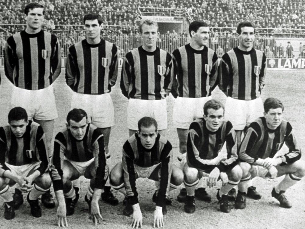 Mario Corso (unten, 2.v.l) spielte 15 Jahre für Inter