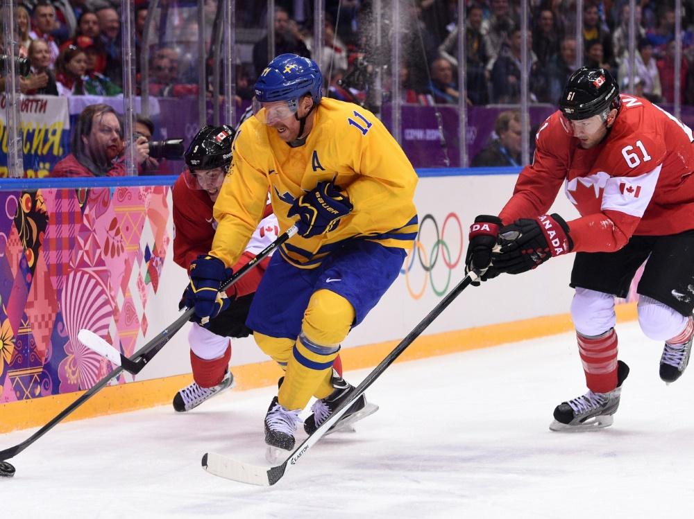 Rick Nash (r.) im Olympia-Finale 2014 gegen Schweden