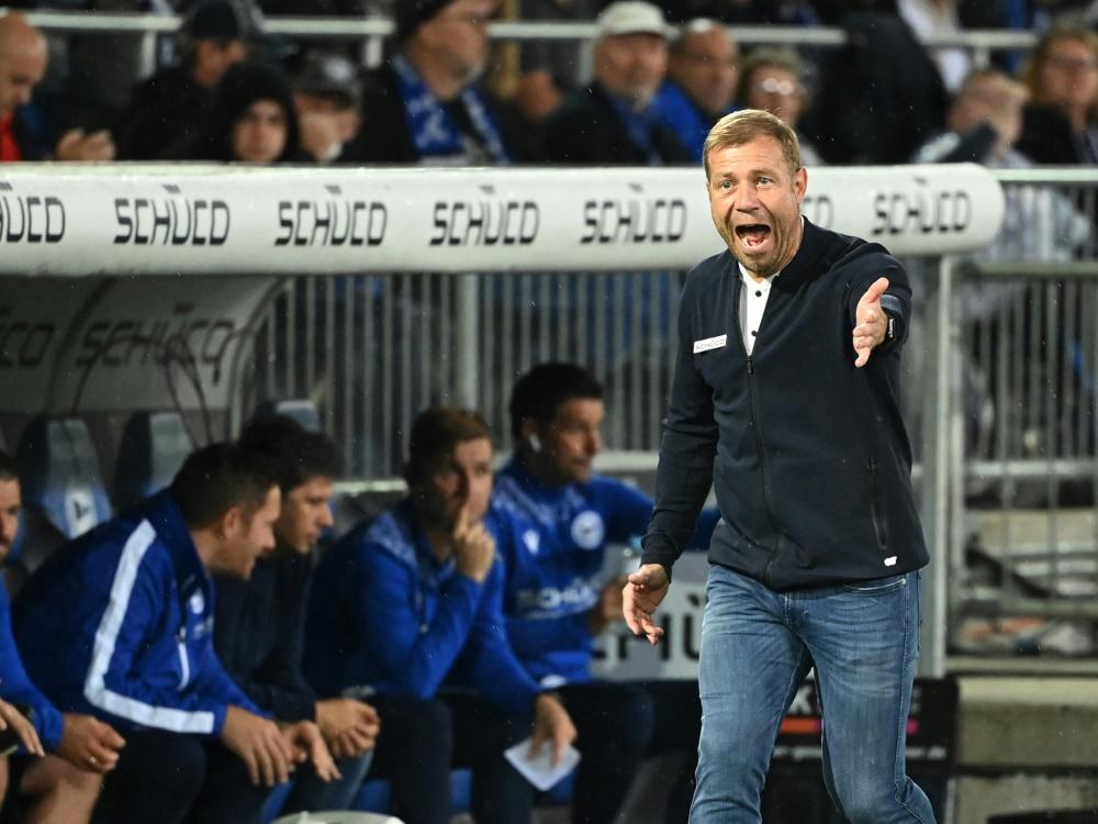 Trainer Frank Kramer will mit Arminia Bielefeld am Samstag die Wende schaffen