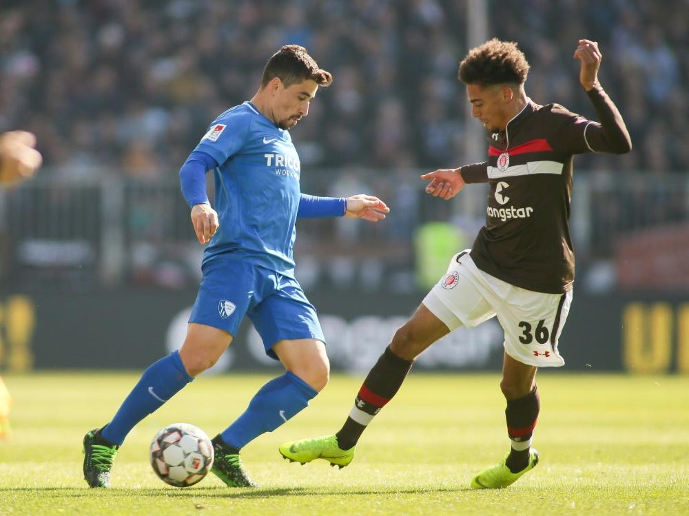 Bleibt beim FC St. Pauli: Luis Coordes (r.)