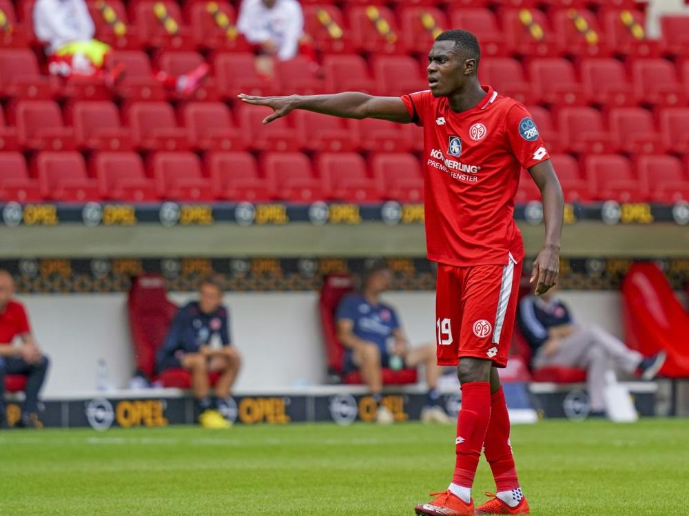 Moussa Niakhaté erzielt den Siegtreffer für die Mainzer