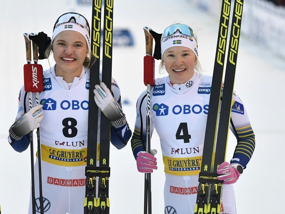 Linn Svahn (l.) gewann den Saisonauftakt der Frauen
