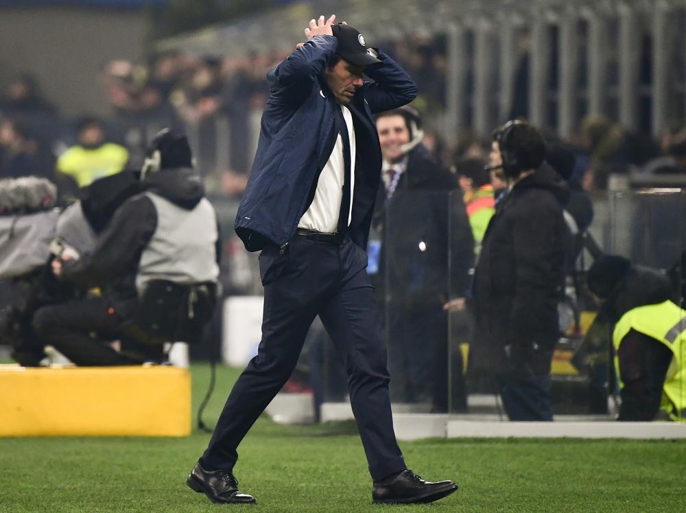 Coach Antonio Conte und Inter können nicht spielen
