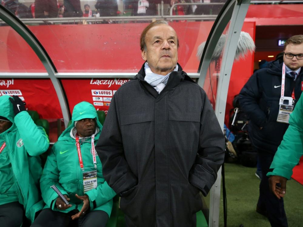 Nigerias Trainer Rohr muss sich mit einem Remis begnügen